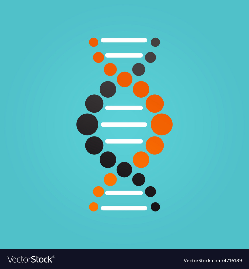 Dna genetic element and icon vector