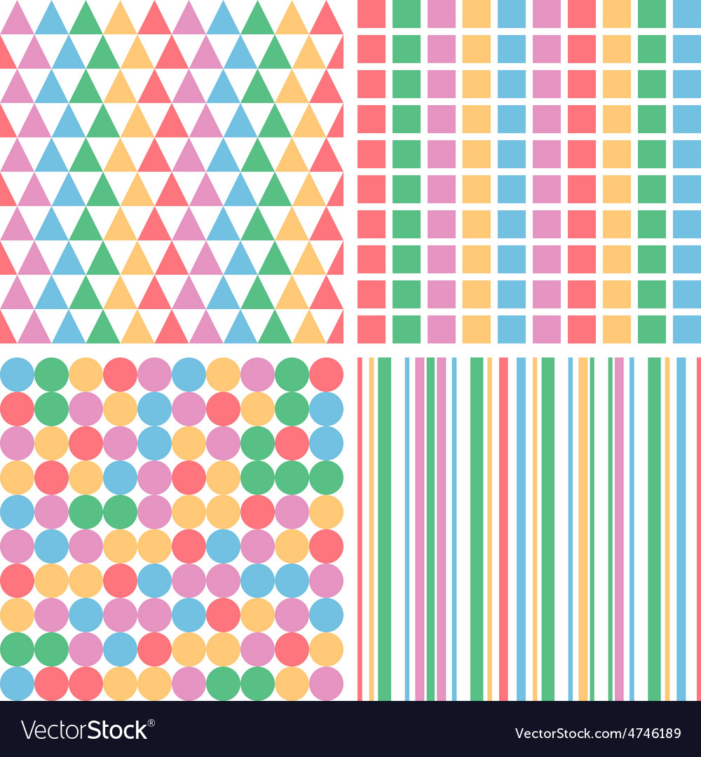 Four abstract pastel colors seamless simple vector