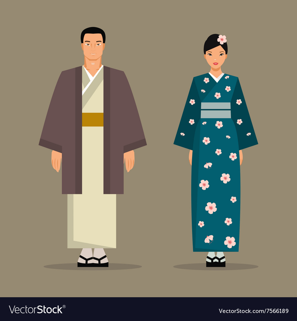 Japanese national costume vector