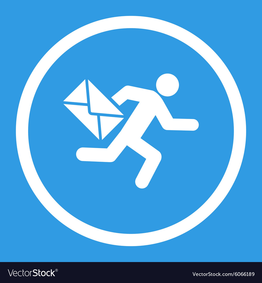 Mail courier icon vector