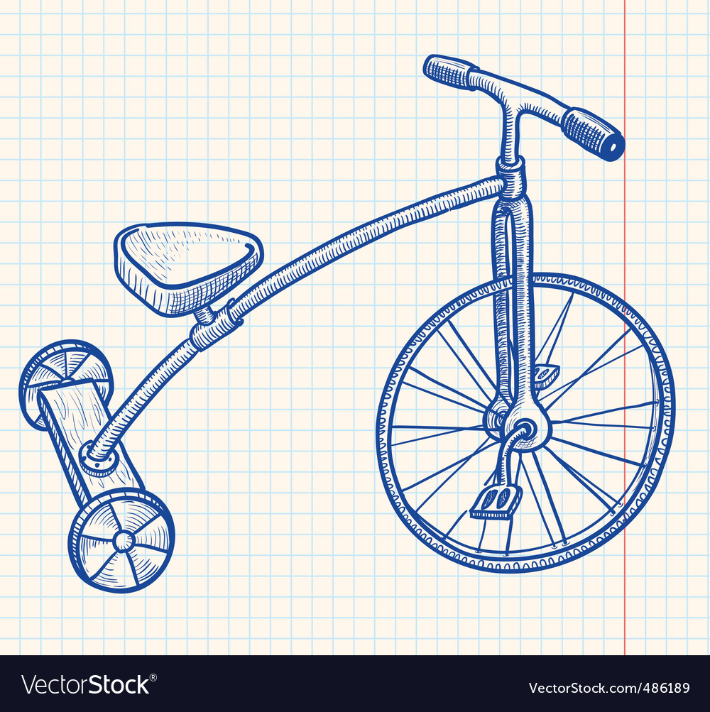 Tricycle vector