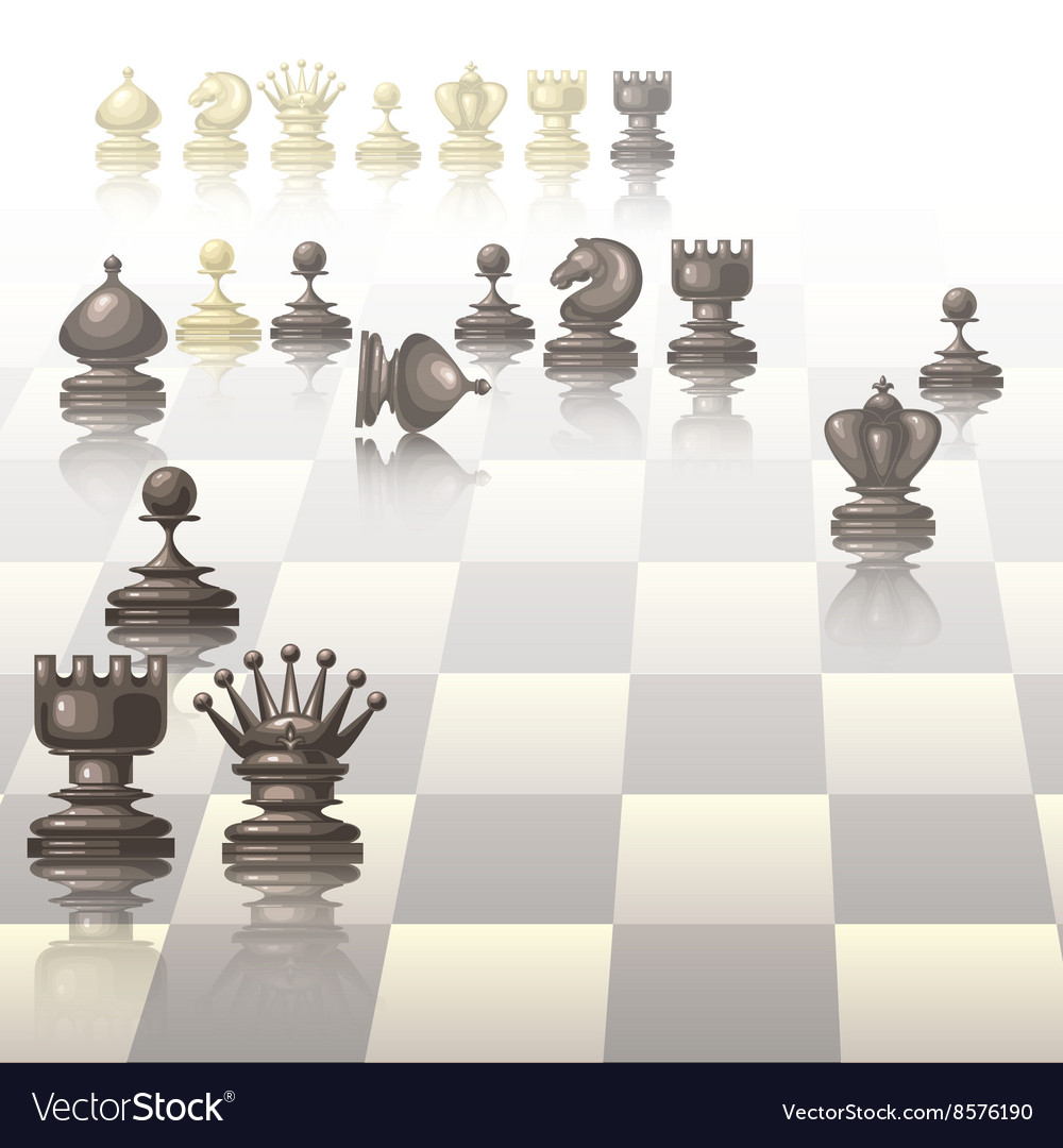 With chess pieces vector