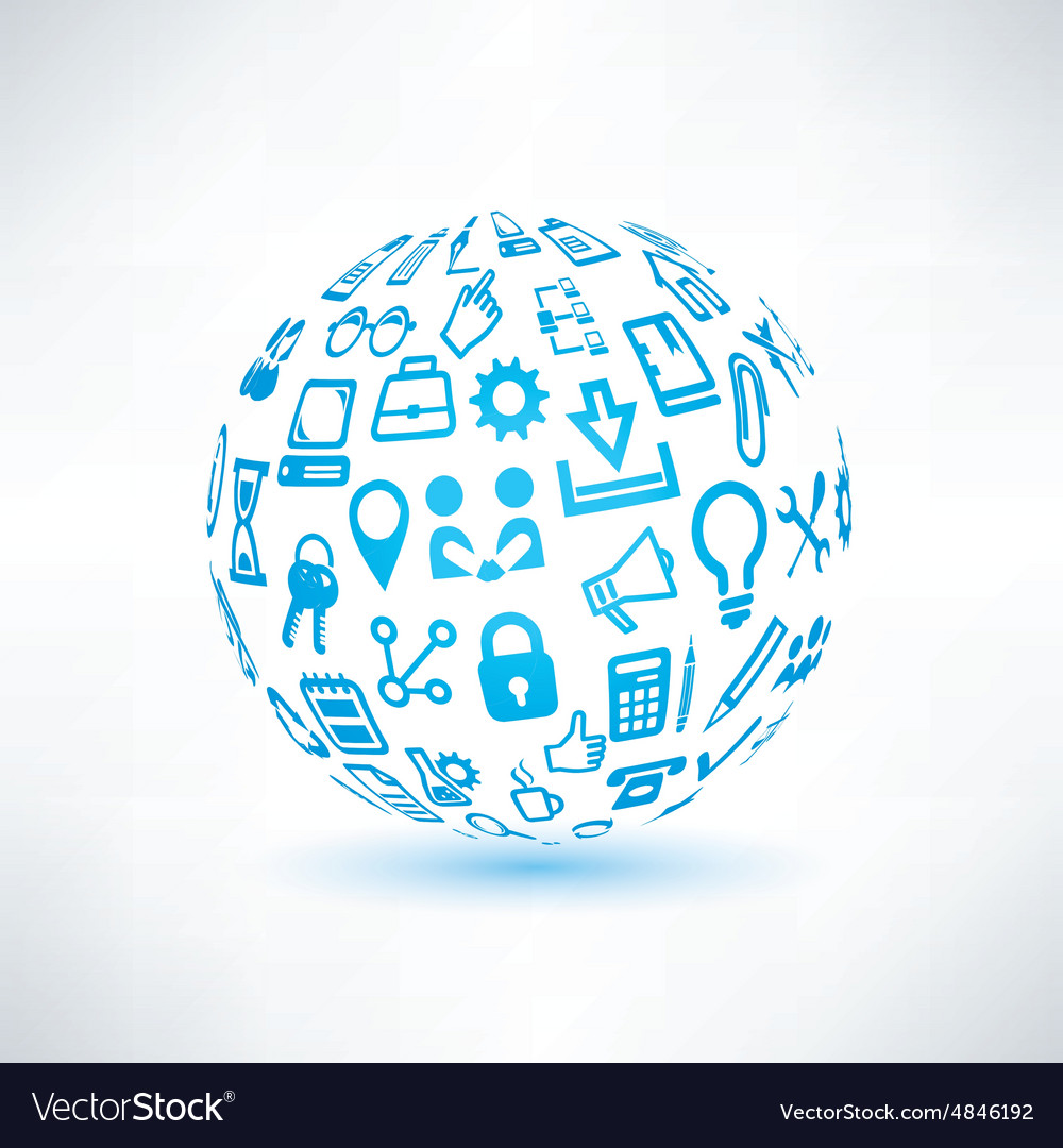 Abstract globe symbol business and communication vector