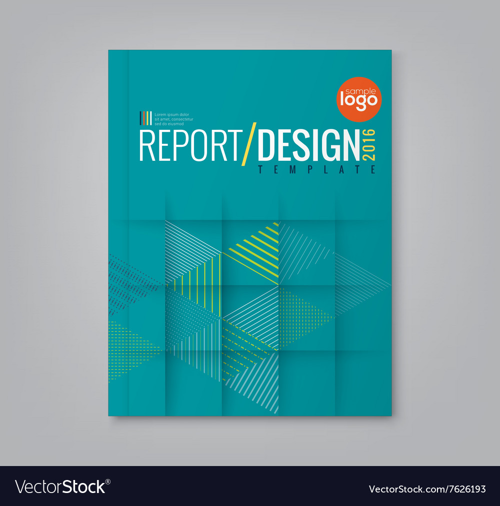 Abstract triangle shapes background book cover vector