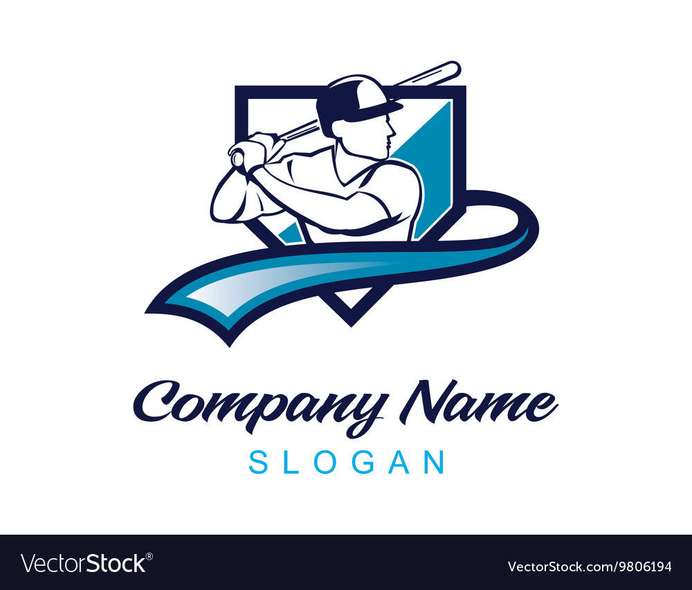 Baseball logo 3 vector