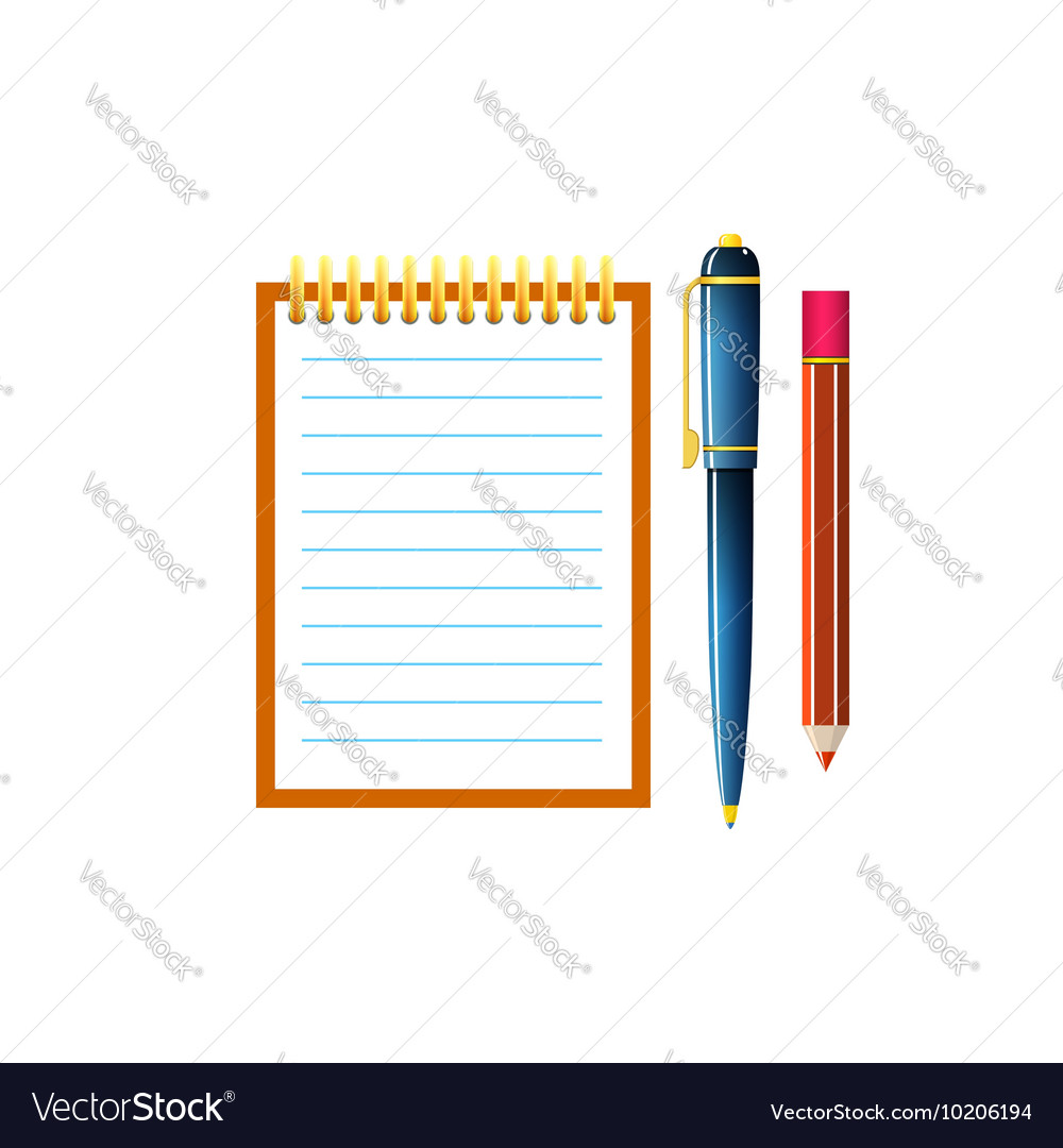 Notebook isolated on white vector