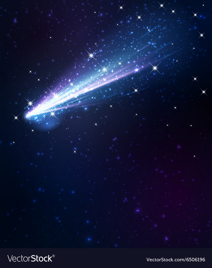 Comet background vector