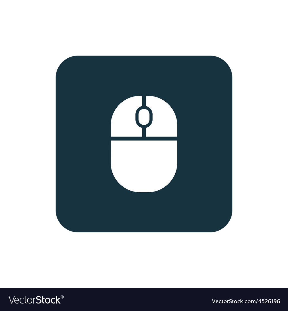 Mouse icon rounded squares button vector