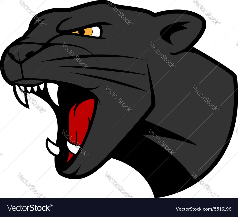 Puma head with bared teeth vector