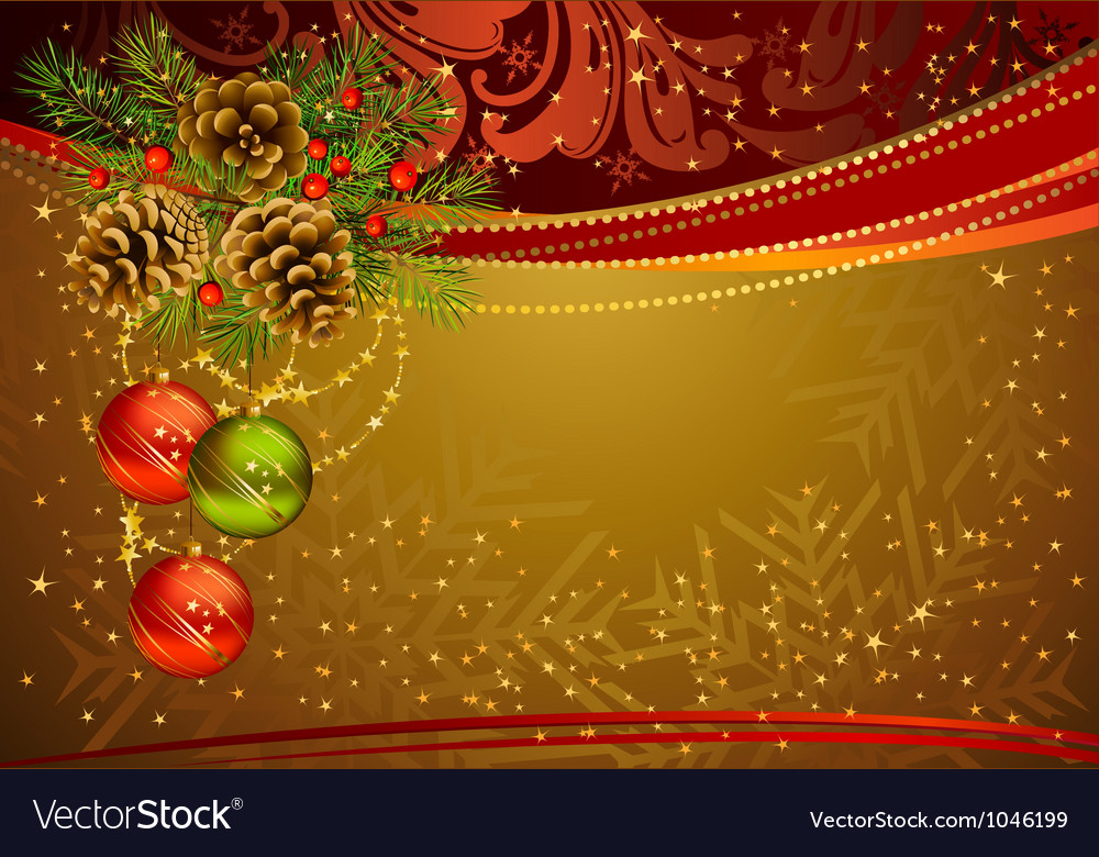 Gold christmas background vector