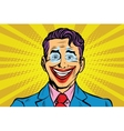Clown smile joker face vector image