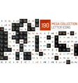 Mega collection of initial letter logo vector image