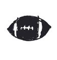 Grunge American football ball Football icon vector image
