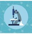 microscope test baterium biology laboratory vector image