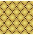 gold rhombus seamless pattern vector image vector image
