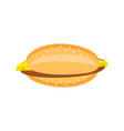 flat cheeseburger with a cutlet and cheese vector image