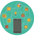 Business Mobility Concept in Green Circle vector image vector image