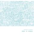 Blue lace flowers textile horizontal frame vector image