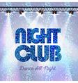 Disco background night club vector image