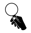 hand with loupe vector image