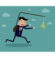 Business executive running vector image