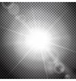 Lens flare on a transparent background vector image