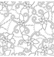 Abstract flowers coloring antistress vector image vector image