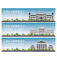 Set of university study banners vector image