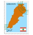 mail to-from Lebanon vector image vector image
