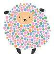 a cartoon sheep stylized vector image