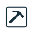 Hammer icon Rounded squares button vector image