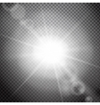 Lens flare on a transparent background vector image