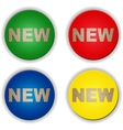 New buttons set vector image