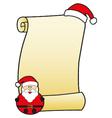 santa claus with parchment vector image
