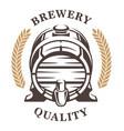 vintage barel of beer emblem frontal vector image