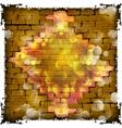 stone brick wall frame and flash diamond vector image