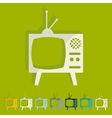 Flat design old tv vector image