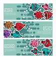set of horizontal banners about fish vector image