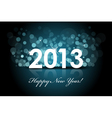 2013 - New year blue background vector image
