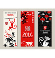 Chinese new year 2016 monkey label card set vector image
