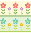 two flowers background vector image vector image