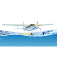 seaplane on the sea vector image