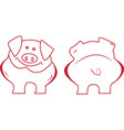 Cartoon Funny Pig vector image