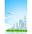 City Landscape Island vector image vector image