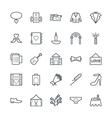 Wedding Cool Icons 4 vector image