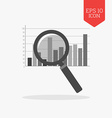 Magnifying glass over chart icon Analysis concept vector image