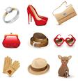 accessories set vector image