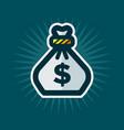 bag of money icon vector image