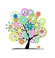 Blooming tree for your design vector image
