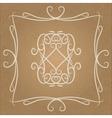 Calligraphic vintage design element vector image